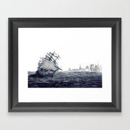 Ariadne cruising the Sea of Azov Framed Art Print