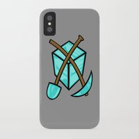 geology iPhone & iPod Cases featuring It's All About The Diamonds by Artistic Dyslexia