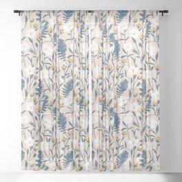 Flax Meadow III Sheer Curtain