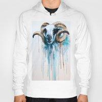 sheep Hoodies featuring Sheep by Slaveika Aladjova