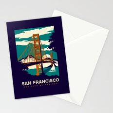 San Francisco Golden Gate Bridge Retro Vintage Stationery Cards