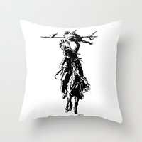 indian Throw Pillows featuring Indian by ARTito