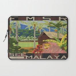 Vintage poster - Malaya Laptop Sleeve