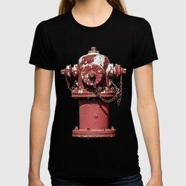 East Jordan Iron Works WaterMaster Peeling Red Fire Hydrant Fire Plug T-shirt