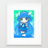 the cure Framed Art Prints featuring Cure Beauty by Nina Dessinatrice