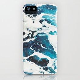 Blue Water Foam iPhone Case