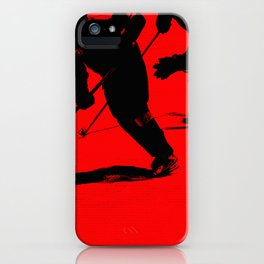 Red Light Break-Away - Hockey Players iPhone Case