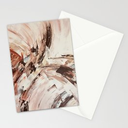Abstract Beige Art Stationery Cards