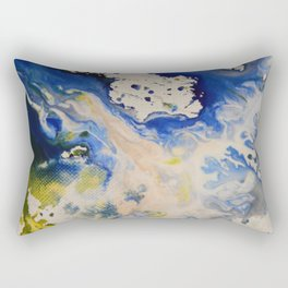 Liquid Colour Splashes Rectangular Pillow