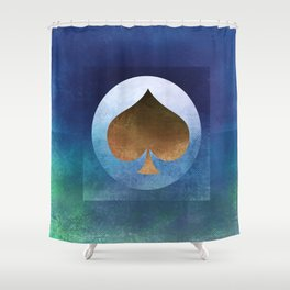 Ace of Spades II Shower Curtain