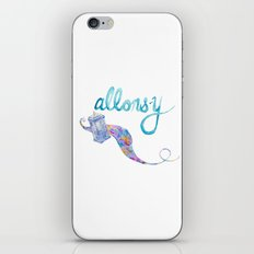 allons-y iPhone & iPod Skin