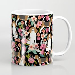 Beagle floral dog breed pattern pet gifts for beagle owners must have beagles Coffee Mug