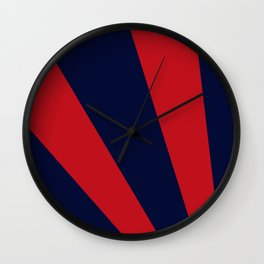 Retro dark blue and red sunburst style abstract background. Wall Clock