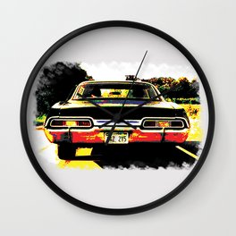 Impala multicolored back (Supernatural) Wall Clock