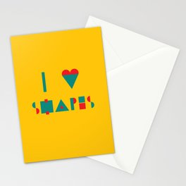 I heart Shapes Stationery Cards