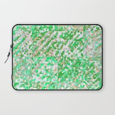 Green & Orange Delight (Squares) Laptop Sleeve