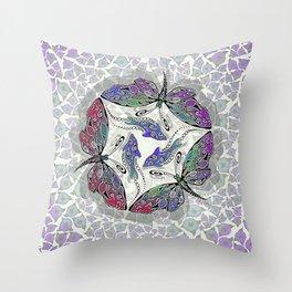 BUTTERDOLPHINS Throw Pillow