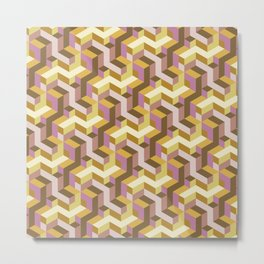 Matrix Desert Mustard  Metal Print