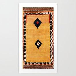 Qashqa'i Fars Southwest Persian Kilim Print Art Print