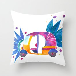Groovy Rickshaw Throw Pillow