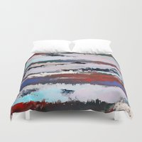 cityscape Duvet Covers featuring Cityscape  by MonsterBrown
