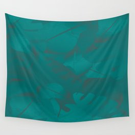 Green Blue Rhyme Wall Tapestry
