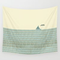 sailboat Wall Tapestries featuring SailBoat by Jeremy Lobdell