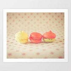 Sweet Baby Macaroons Art Print