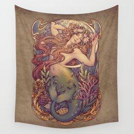 Andersen Little Mermaid Nouveau Wall Tapestry