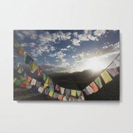 Tibetan Prayer Flags Metal Print