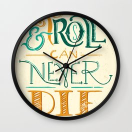 Rock & Roll Can Never Die - Neil Young Wall Clock