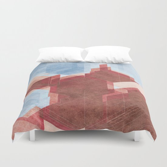 City and Sea Duvet Cover