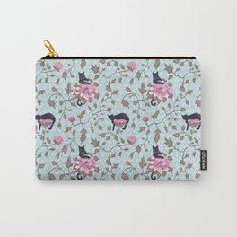 Cats and Flowers (Paeonies) Carry-All Pouch