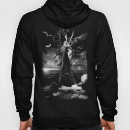 XVI. The Tower Tarot Illustration Hoody