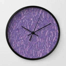 Floral Ultraviolet Wall Clock