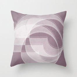 Spacial Orbiting Spiral in Musk Mauve Throw Pillow