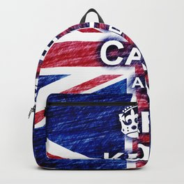 Keep Calm and Carry On Pastel Sketch Backpack