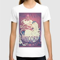 the last unicorn T-shirts featuring The Last Unicorn by Lara Pratt