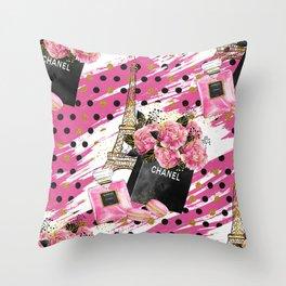 Fashion Paris #1 Throw Pillow