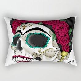 Frida khalo skull Rectangular Pillow