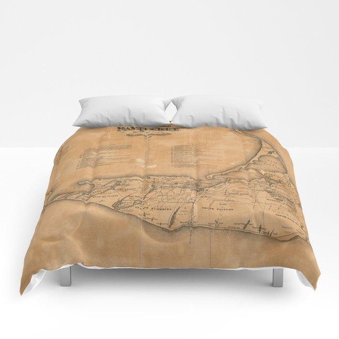 Vintage Map of Nantucket (1869)  Comforters
