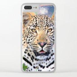 Cool Leopard Clear iPhone Case