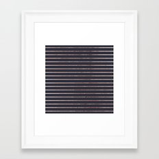 Elegant Chic Rose Gold Stripes and Navy Blue Framed Art Print