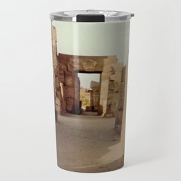 Ruins at the Karnak Temple Complex in Egypt Travel Mug