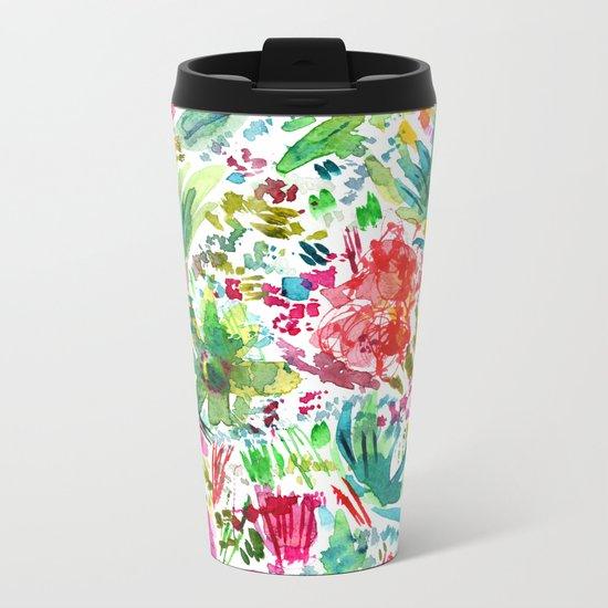 Spring vibes || watercolor Metal Travel Mug