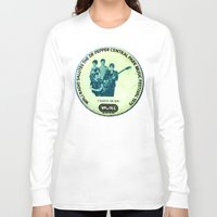 talking heads Long Sleeve T-shirts featuring Central Park talking heads 1979 by Del Gaizo