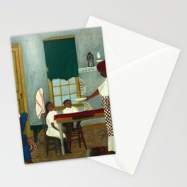 African American Masterpiece 'Saturday Morning Breakfast' by Horace Pippin Stationery Cards