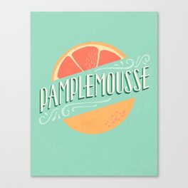 Pamplemousse (Grapefruit) Canvas Print