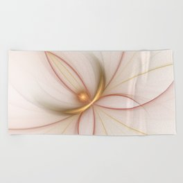Nobly In Gold And Copper, Fractal Art Beach Towel
