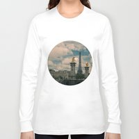 eiffel Long Sleeve T-shirts featuring Eiffel by Esteban Calderón